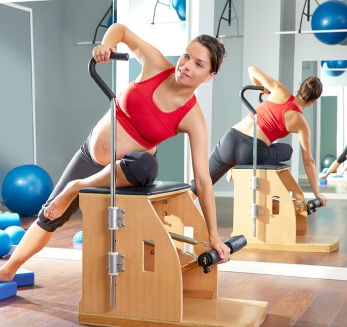 Clases de Pilates para pre o post embarazadas en nuestro centro.
